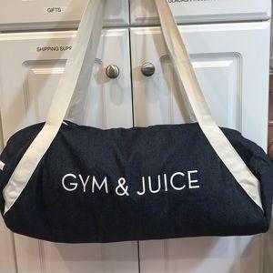 Handbags - Gym & Juice denim duffel bag